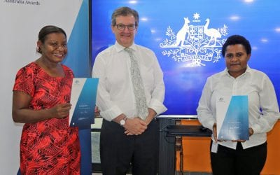 PNG's 2019 Australia Awards Allison Sudradjat Prize Recipients