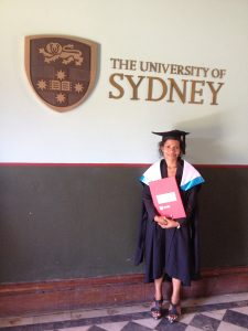 Betty Mundua at her graduation at the University of Sydney in 2013