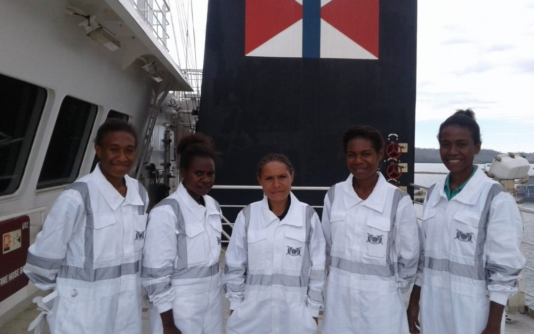 Female maritime cadets aim high on the high seas